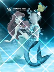 Mala Princeza Sirena Poster za Decu